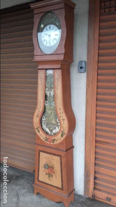Relojes de pie: Reloj Morez del siglo XIX en su caja original restaurada - Foto 2 - 78910677