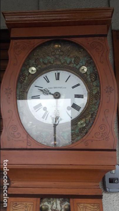 Relojes de pie: Reloj Morez del siglo XIX en su caja original restaurada - Foto 3 - 78910677