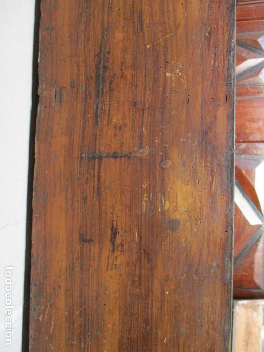Relojes de pie: Antiguo Reloj de Pie - Maquina Morez - Caja de Madera, Pintada a Mano - Sonería de Campana - S. XIX - Foto 9 - 82419124