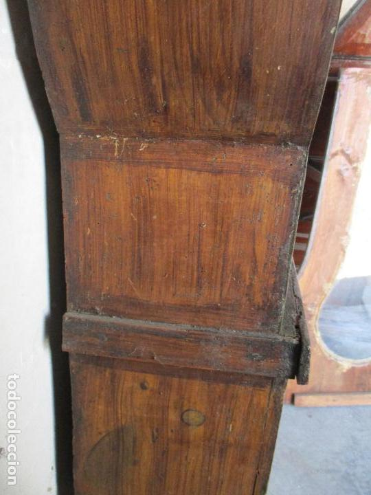 Relojes de pie: Antiguo Reloj de Pie - Maquina Morez - Caja de Madera, Pintada a Mano - Sonería de Campana - S. XIX - Foto 10 - 82419124
