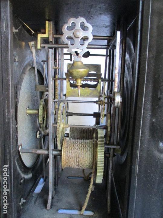 Relojes de pie: Antiguo Reloj de Pie - Maquina Morez - Caja de Madera, Pintada a Mano - Sonería de Campana - S. XIX - Foto 17 - 82419124