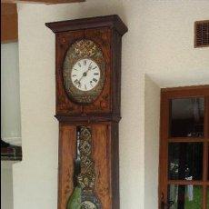 Relojes de pie: RELOJ MOREZ DE 1815 CON PÉNDULO DE AUTÓMATA, CAZADOR Y PALOMA. Lote 86427192