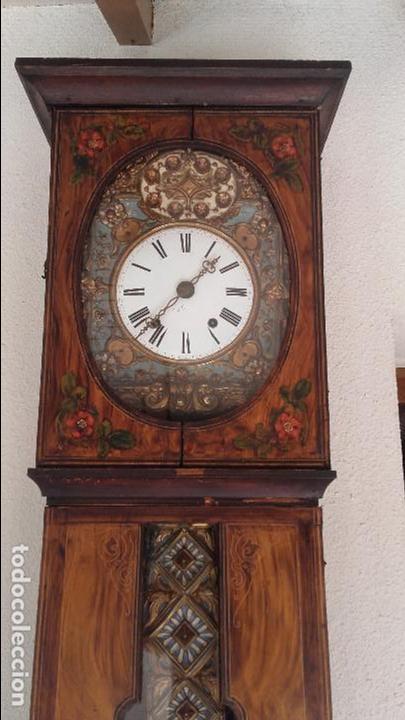 Relojes de pie: Reloj Morez de 1815 con péndulo de autómata, cazador y paloma - Foto 2 - 86427192