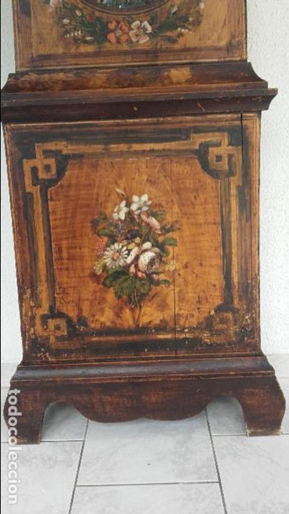 Relojes de pie: Reloj Morez de 1815 con péndulo de autómata, cazador y paloma - Foto 4 - 86427192