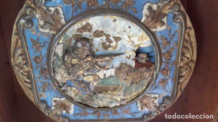 Relojes de pie: Reloj Morez de 1815 con péndulo de autómata, cazador y paloma - Foto 5 - 86427192