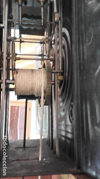 Relojes de pie: Reloj Morez de 1815 con péndulo de autómata, cazador y paloma - Foto 7 - 86427192