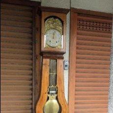 Relojes de pie: RELOJ MOREZ, ESFERA DE ALABASTRO, GRAN PÉNDULO DE LIRA. Lote 89601420