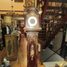 Relojes de pie: PRECIOSO RELOJ CARRILLON, CON SONERÍA. CUERPO DECORADO A MANO. FUNCIONANDO. 42 X 27 X 195 CMS. ALTUR. Lote 91334280