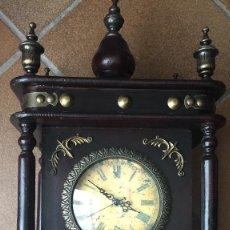 Relojes de pie: ANTIGUO RELOJ MADERA DE CAOBA. Lote 91473675