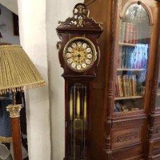Relojes de pie: RELOJ DE ANTESALA CAOBA Y BRONCE. Lote 91565580