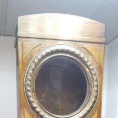 Relojes de pie: CAJA DE RELOJ DE PIE. MADERA DE ROBLE. LATON. ESTILO ART DECO. ESPAÑA. CIRCA 1930.. Lote 93776015
