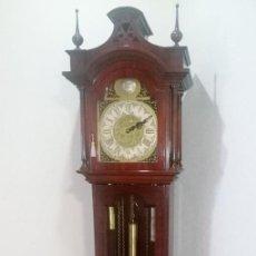 Relojes de pie: RELOJ CARILLON DE MECANISMO QUE FUNCIONA CON PESAS. Lote 95408847