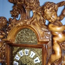 Relojes de pie: RELOJ DE PIE CARRILLON DE MADERA TALLADA. Lote 101107655
