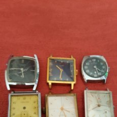 Relojes de pie: LOTE DE 8 RELOJES DE CUERDA DIFERENTES MARCAS RELOJES ANTIGUOS. Lote 101136424