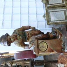 Relojes de pie: RELOJ ECHO EN TERRACOTA PRINCIPIO DE SIGLO . Lote 101324915