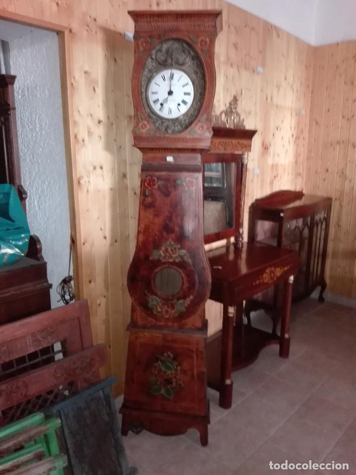 RELOJ ANTESALA FRANCES, MAQUINA MOREZ (Relojes - Pie Carga Manual)