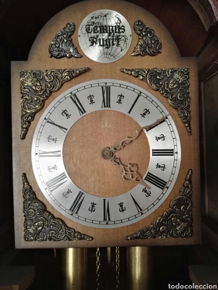 Relojes de pie: Reloj antiguo tempus fugit - Foto 3 - 107376644