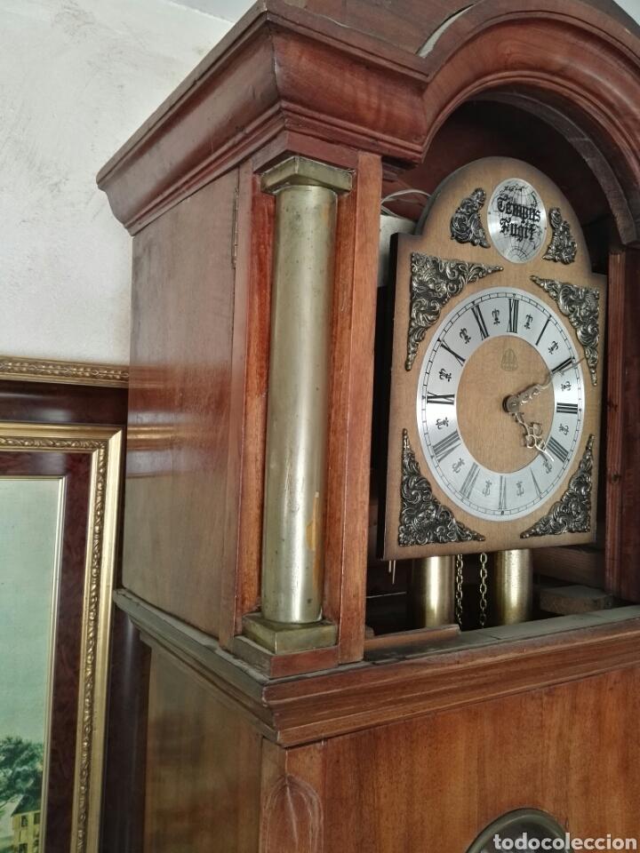 Relojes de pie: Reloj antiguo tempus fugit - Foto 6 - 107376644