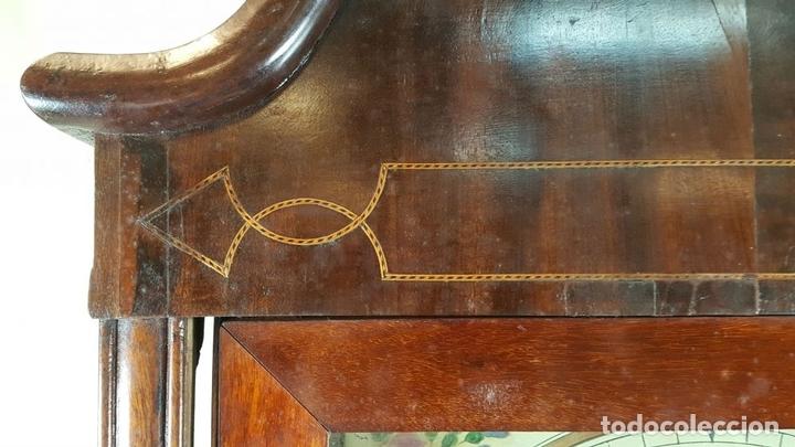 Relojes de pie: RELOJ DE PIE. MUEBLE DE CAOBA Y ROBLE. JOHN CALCOTT. INGLATERRA. SIGLO XVIII-XIX. - Foto 4 - 109270551