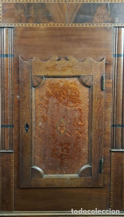 Relojes de pie: RELOJ DE PIE. MUEBLE DE CAOBA Y ROBLE. JOHN CALCOTT. INGLATERRA. SIGLO XVIII-XIX. - Foto 5 - 109270551