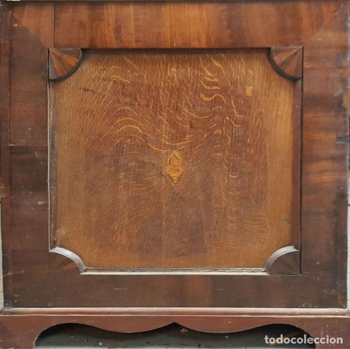 Relojes de pie: RELOJ DE PIE. MUEBLE DE CAOBA Y ROBLE. JOHN CALCOTT. INGLATERRA. SIGLO XVIII-XIX. - Foto 7 - 109270551