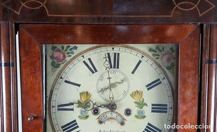 Relojes de pie: RELOJ DE PIE. MUEBLE DE CAOBA Y ROBLE. JOHN CALCOTT. INGLATERRA. SIGLO XVIII-XIX. - Foto 8 - 109270551