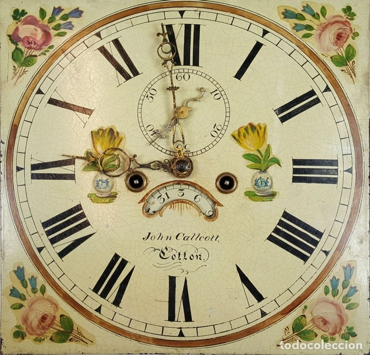 Relojes de pie: RELOJ DE PIE. MUEBLE DE CAOBA Y ROBLE. JOHN CALCOTT. INGLATERRA. SIGLO XVIII-XIX. - Foto 15 - 109270551