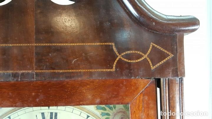 Relojes de pie: RELOJ DE PIE. MUEBLE DE CAOBA Y ROBLE. JOHN CALCOTT. INGLATERRA. SIGLO XVIII-XIX. - Foto 16 - 109270551