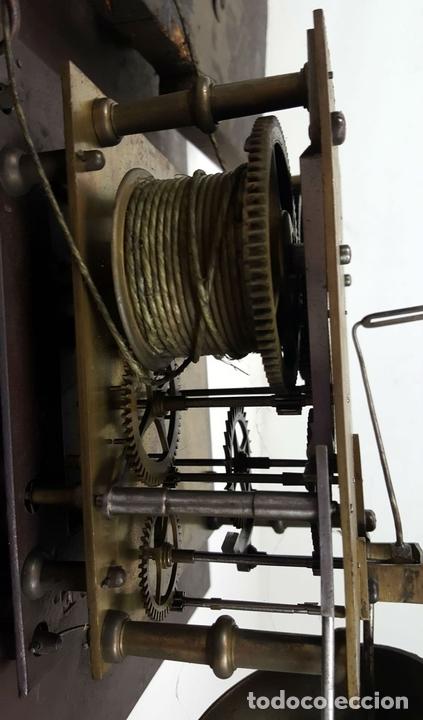 Relojes de pie: RELOJ DE PIE. MUEBLE DE CAOBA Y ROBLE. JOHN CALCOTT. INGLATERRA. SIGLO XVIII-XIX. - Foto 17 - 109270551