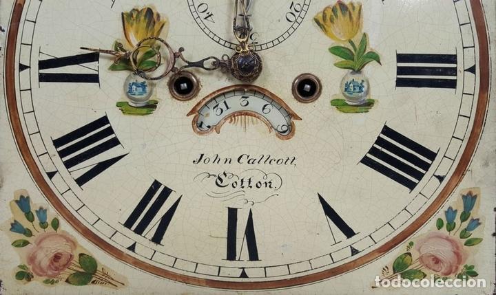 Relojes de pie: RELOJ DE PIE. MUEBLE DE CAOBA Y ROBLE. JOHN CALCOTT. INGLATERRA. SIGLO XVIII-XIX. - Foto 26 - 109270551