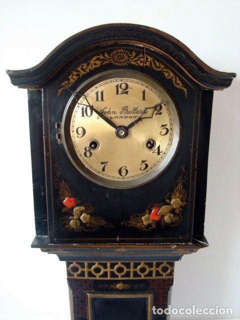 ORIGINAL RELOJ INGLES DE PIE, S. XIX, CON CHINOSSERIES, SONERÍA, EN MARCHA (Relojes - Pie Carga Manual)