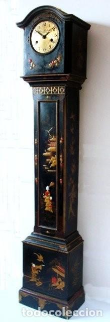 Relojes de pie: Original Reloj Ingles de pie, S. XIX, con chinosseries, sonería, en marcha - Foto 2 - 111714347