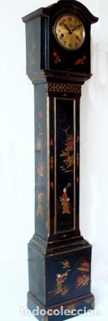 Relojes de pie: Original Reloj Ingles de pie, S. XIX, con chinosseries, sonería, en marcha - Foto 3 - 111714347