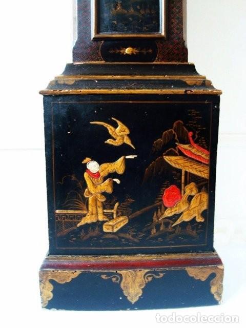 Relojes de pie: Original Reloj Ingles de pie, S. XIX, con chinosseries, sonería, en marcha - Foto 4 - 111714347