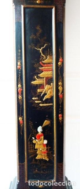 Relojes de pie: Original Reloj Ingles de pie, S. XIX, con chinosseries, sonería, en marcha - Foto 5 - 111714347