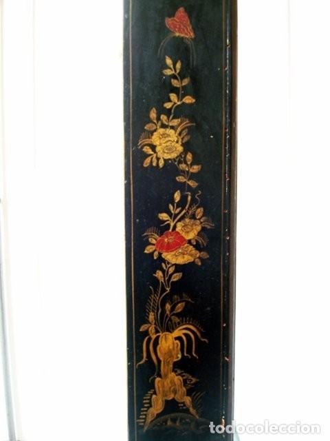 Relojes de pie: Original Reloj Ingles de pie, S. XIX, con chinosseries, sonería, en marcha - Foto 7 - 111714347