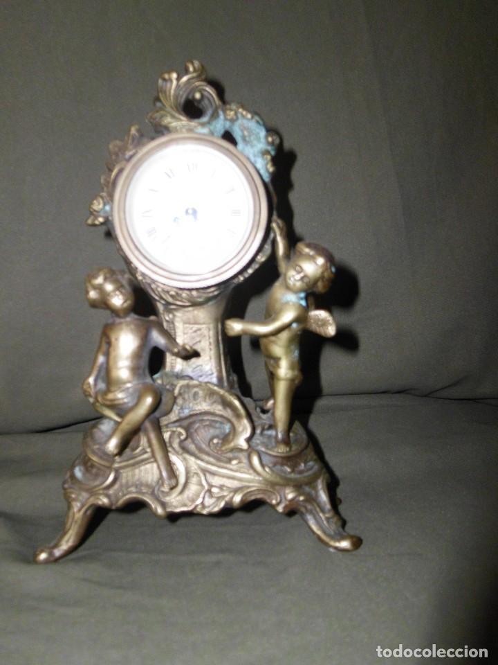 Relojes de pie: ANTIGUO RELOJ BRONCE CARGA MANUAL - Foto 2 - 111781963