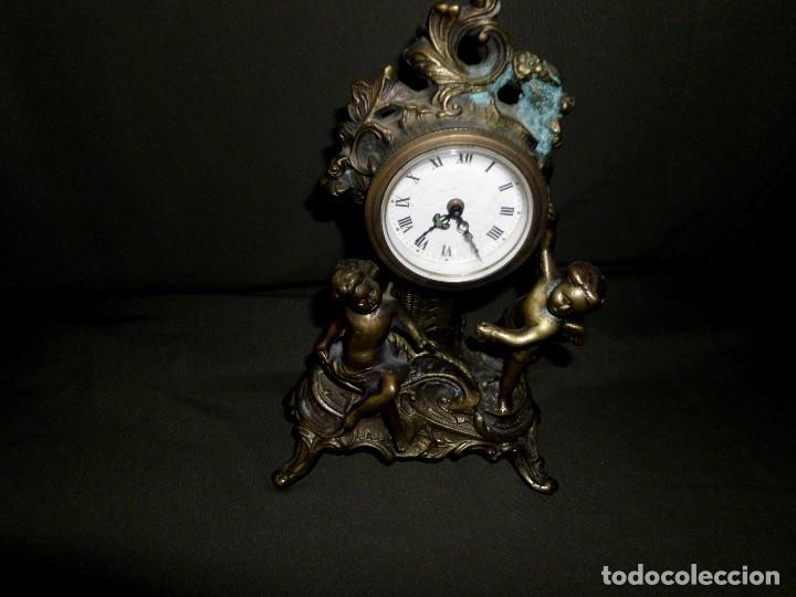 Relojes de pie: ANTIGUO RELOJ BRONCE CARGA MANUAL - Foto 3 - 111781963