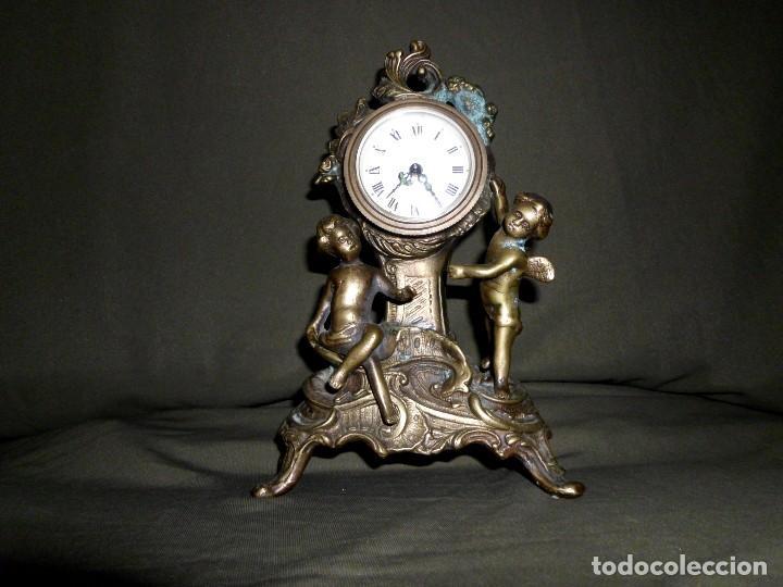 Relojes de pie: ANTIGUO RELOJ BRONCE CARGA MANUAL - Foto 4 - 111781963
