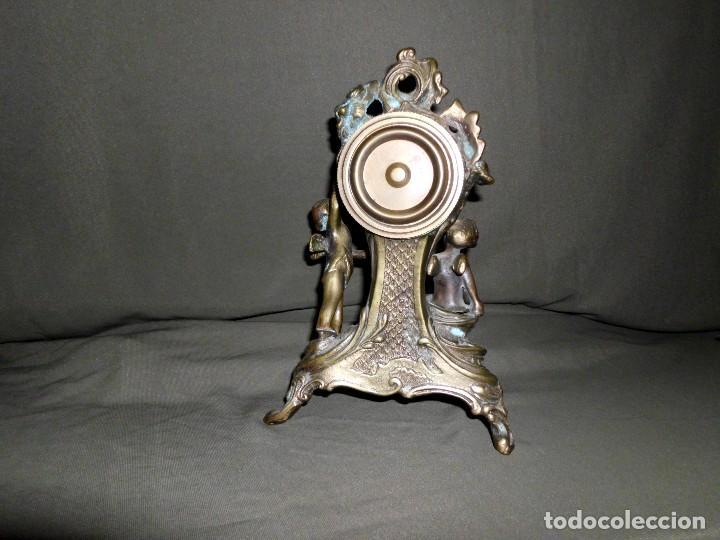 Relojes de pie: ANTIGUO RELOJ BRONCE CARGA MANUAL - Foto 5 - 111781963