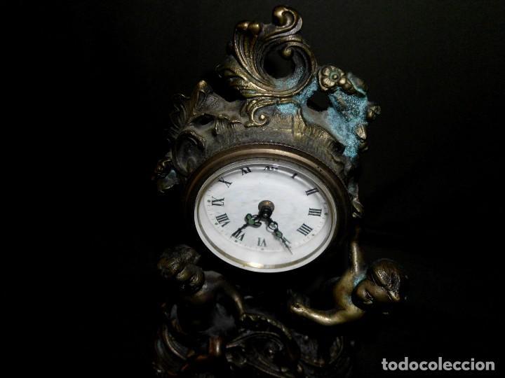 Relojes de pie: ANTIGUO RELOJ BRONCE CARGA MANUAL - Foto 7 - 111781963