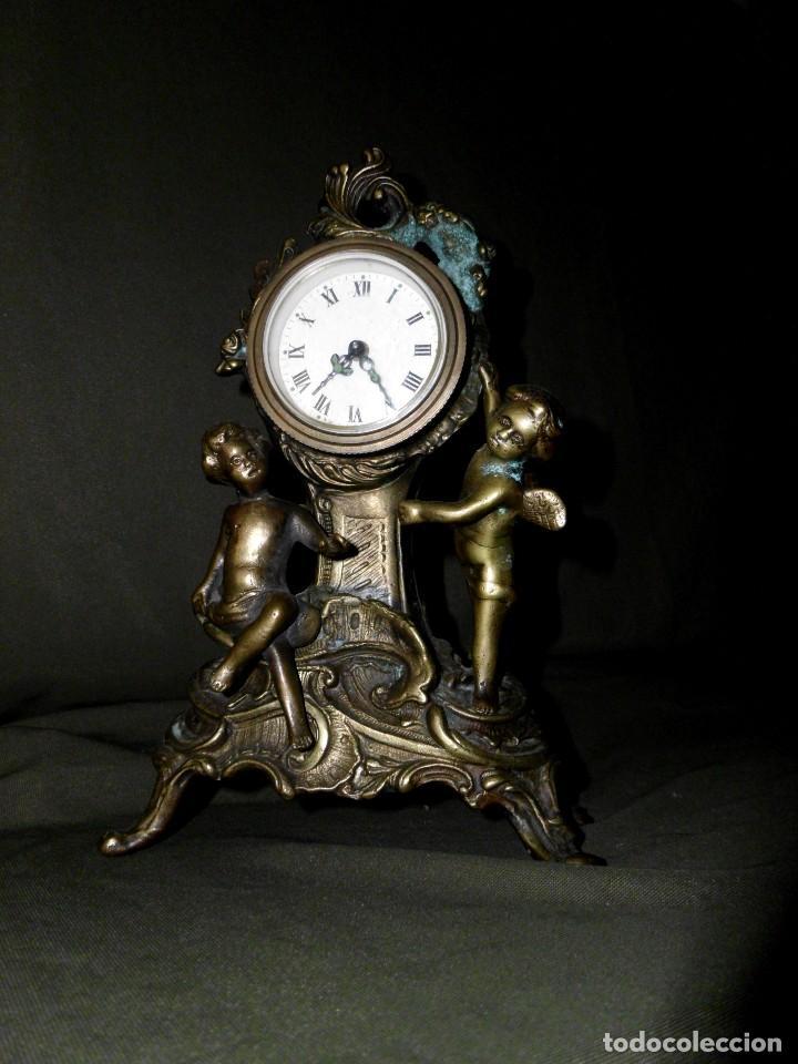 Relojes de pie: ANTIGUO RELOJ BRONCE CARGA MANUAL - Foto 8 - 111781963