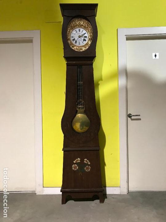 Standuhren: Antiguo reloj de pie. Maquinar morez. Siglo XIX - Foto 5 - 113379515