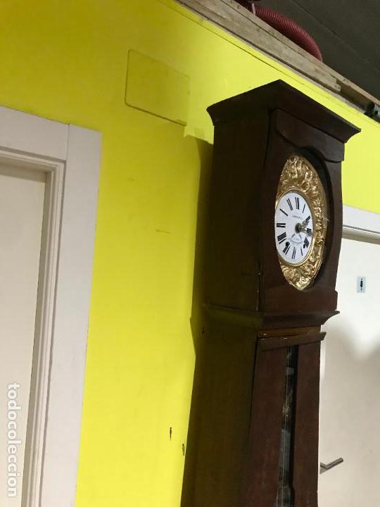 Standuhren: Antiguo reloj de pie. Maquinar morez. Siglo XIX - Foto 6 - 113379515