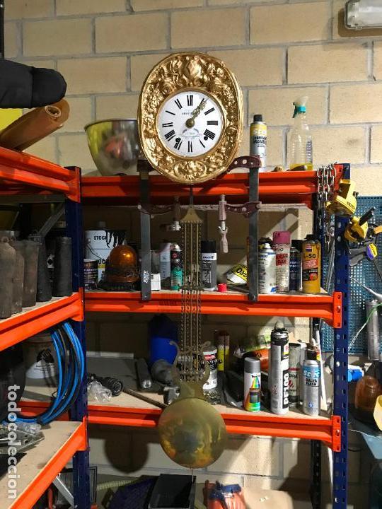 Standuhren: Antiguo reloj de pie. Maquinar morez. Siglo XIX - Foto 10 - 113379515