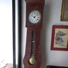 Relojes de pie: ANTIGUO RELOJ DE PIE CUERDA DE GUITARRA - COMPLETO Y FUNCIONANDO - CAJA MUY BONITA EN MAL ESTADO. Lote 114374035