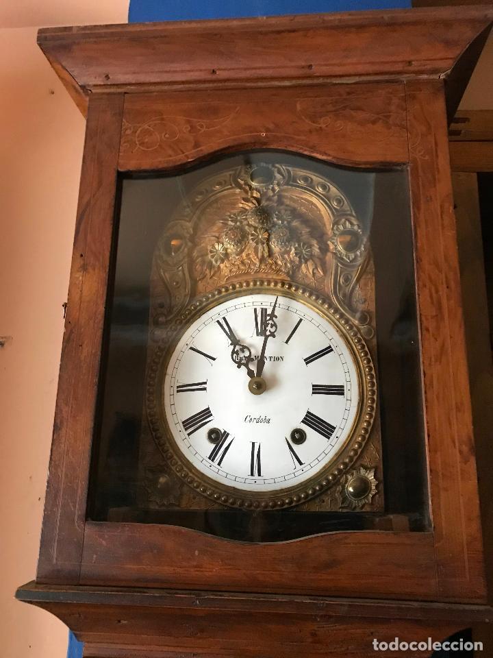 Relojes de pie: ANTIGUO Y ORIGINAL GRAN RELOJ MOREZ 4 CAMPANAS CON CAJA, FUNCIONANDO, BUEN ESTADO - Foto 13 - 118621591