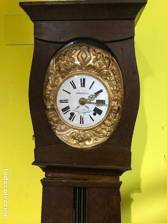 ANTIGUO RELOJ DE PIE. MAQUINAR MOREZ. SIGLO XIX (Uhren - Standuhren)