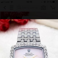 Relojes de pie: ROLEX DIAMONT PERPETUAL MUJER. PAYPAL. Lote 121659512