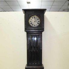Relojes de pie: RELOJ ANTIGUO DE PIE CAJA DE MADERA TALLADA. Lote 120427187